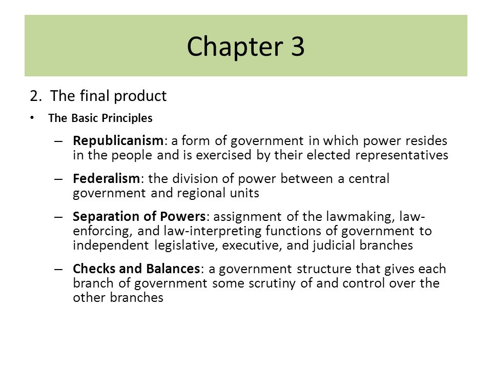 Constitutional Underpinnings Chapter 3 Constitution. - ppt download