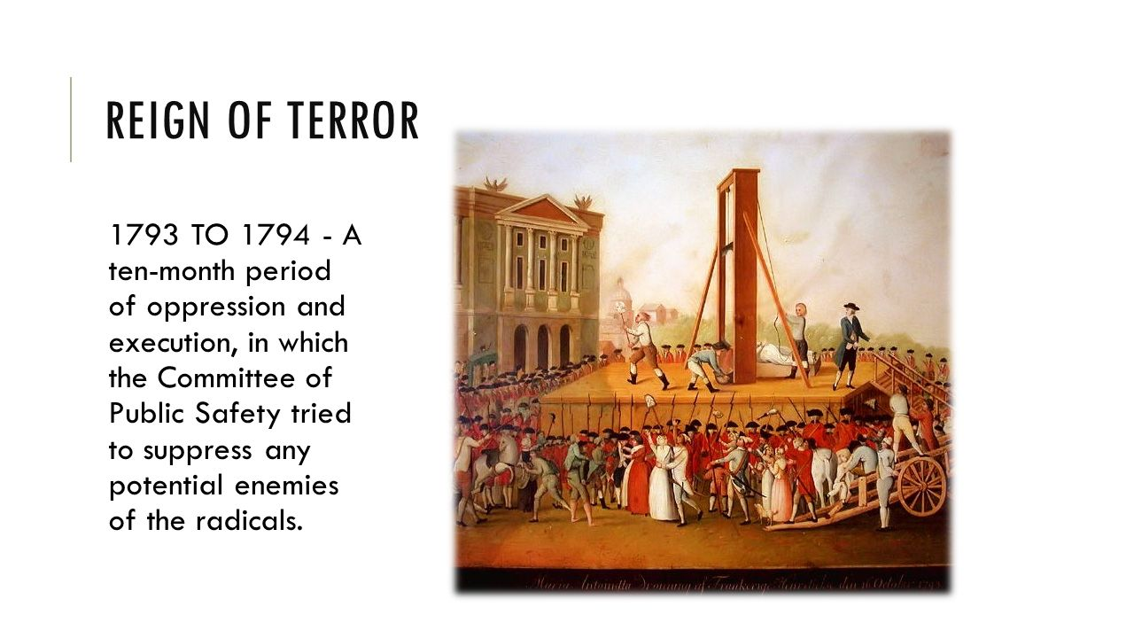 the influence of the reign of terror on the success of the french revolution Maximilien robespierre essay examples the influence of the reign of terror on the success of the french use of terror necessary for the french revolution to.