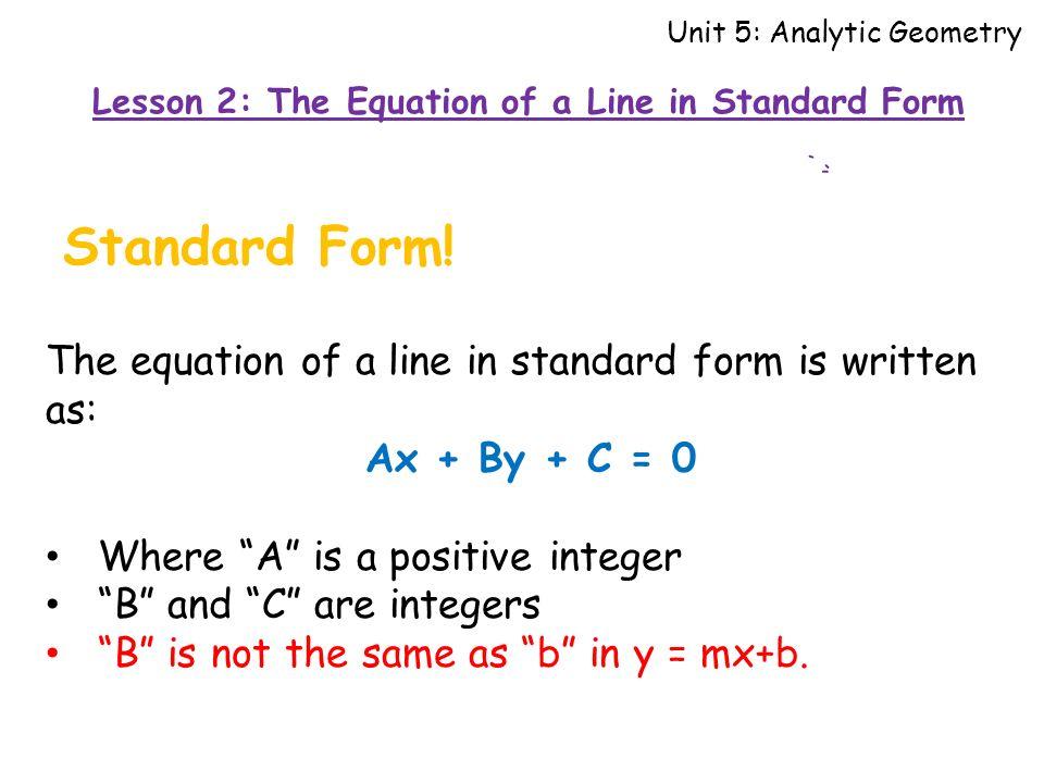 Standard Form Geometry Narsuogradysmoving
