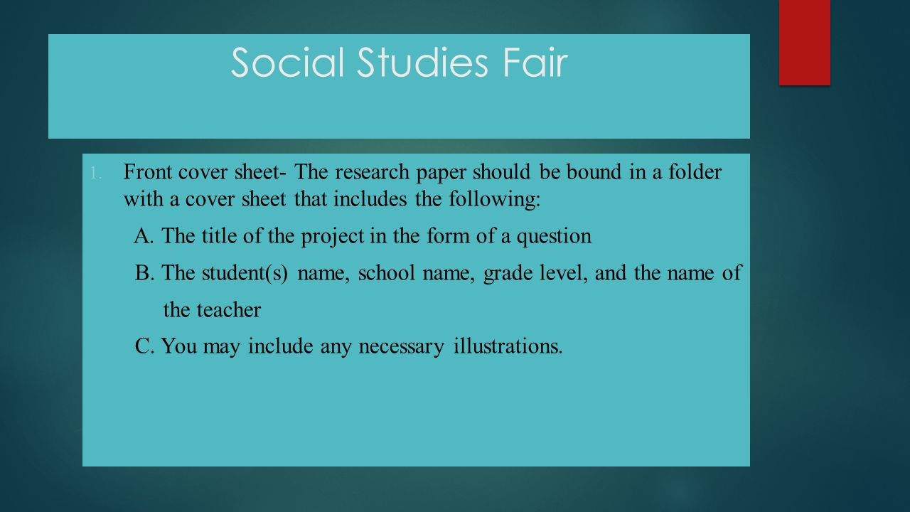 research paper front