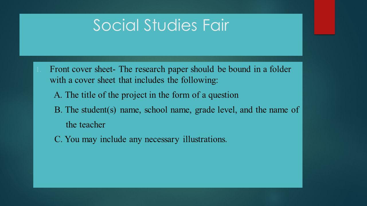 social studies fair social studies disciplines anthropology 13 social studies fair 1 front cover sheet