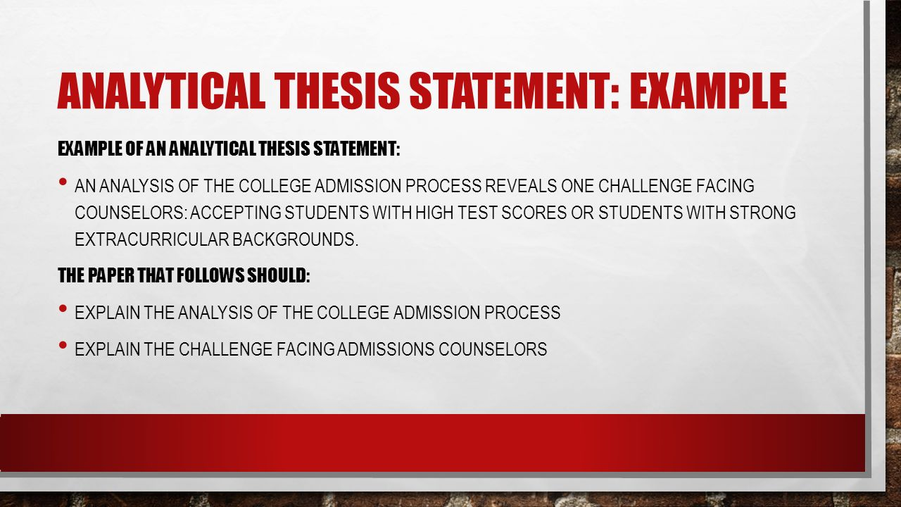 thesis statements how to then do type of essay analytical an analytical thesis statement example example of an analytical thesis statement an analysis of the