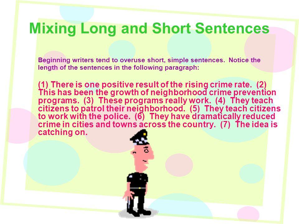 Sentence variety mixing long and short sentences use a question mixing long and short sentences beginning writers tend to overuse short simple sentences stopboris Gallery