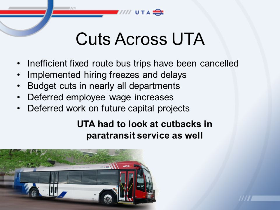 Utah transit authority proposed changes to ada paratransit 3 cuts sciox Images