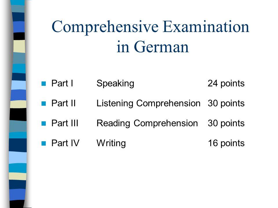 Regents Review - Deutsch Comprehensive Examination in German Part ...