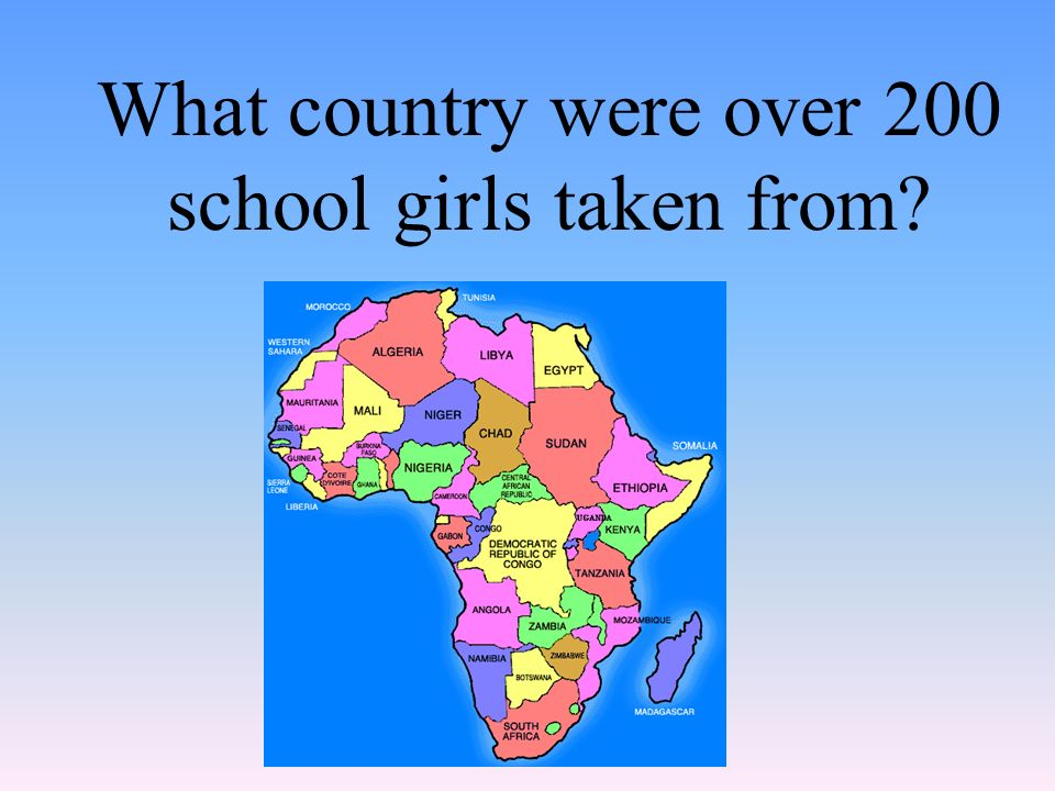 What country were over 200 school girls taken from