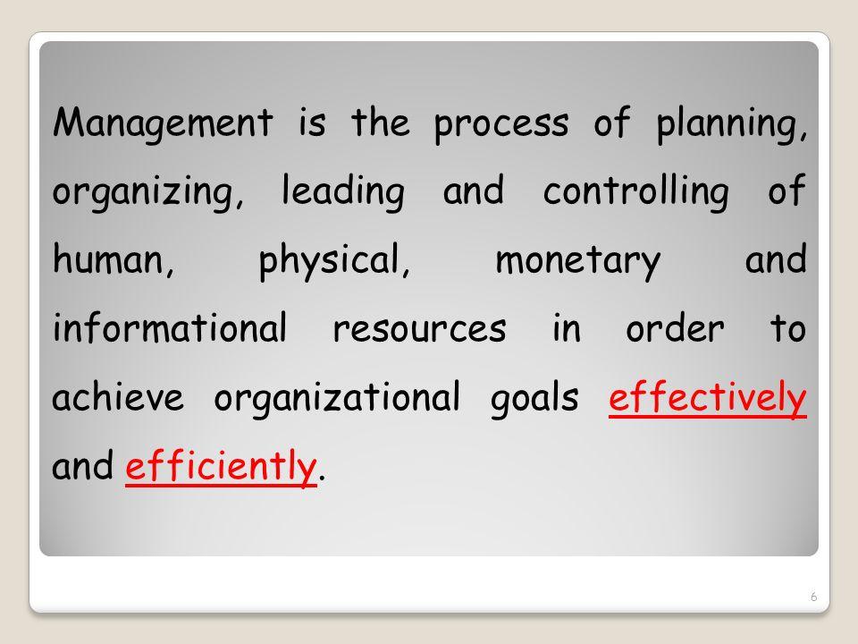 Efficiency Effectiveness 17