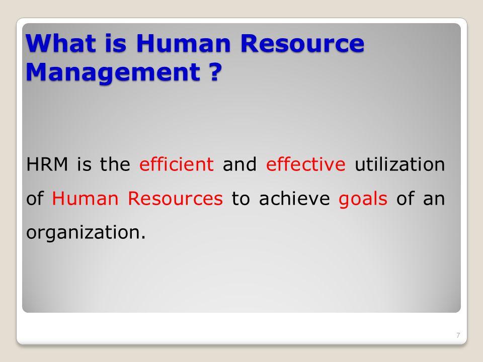 Efficient utilization of HR Optimum use of employees by eradicating or minimizing wastage.