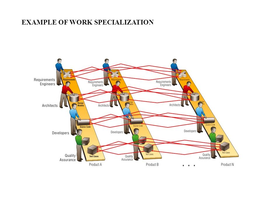 Organization Structure (cont'd)  Width of span is affected by:  Skills and abilities of the manager  Employee characteristics  Characteristics of the work being done  Similarity of tasks  Complexity of tasks  Physical proximity of subordinates  Standardization of tasks The trend in recent years has been towards larger spans of control.