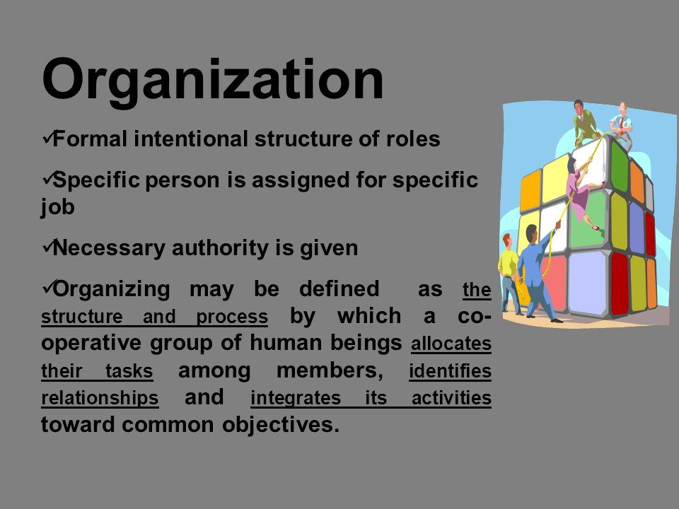 12 Distributing authority: Delegation: Delegation is a process by which authority is distributed among employees.