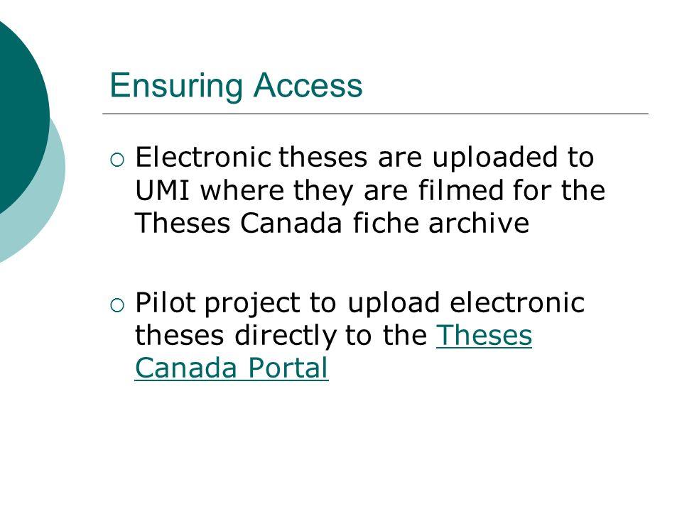 canadian theses database
