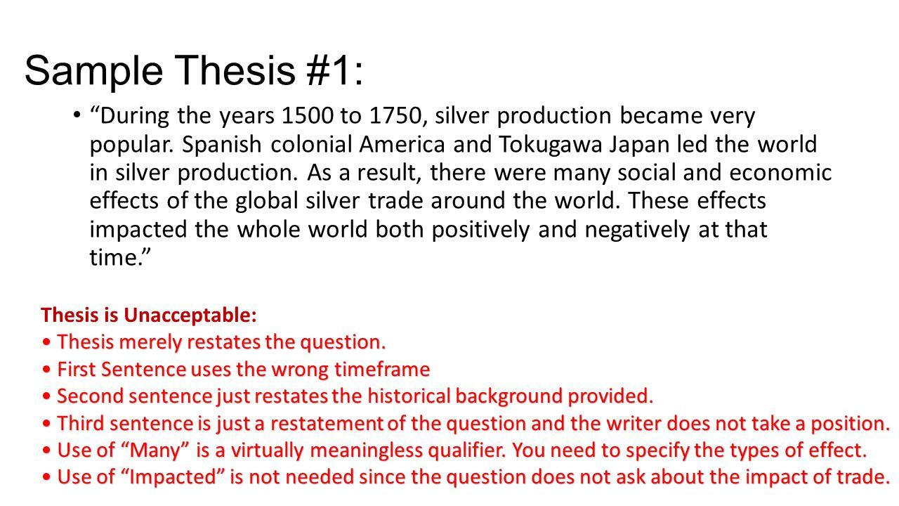 global history dbq essay