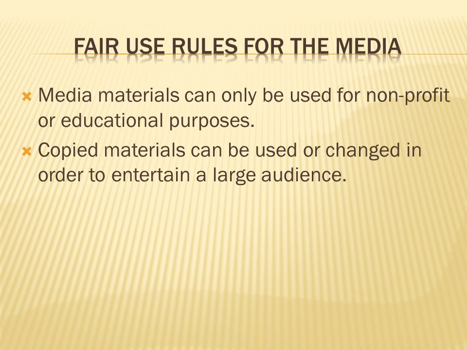  Media materials can only be used for non-profit or educational purposes.