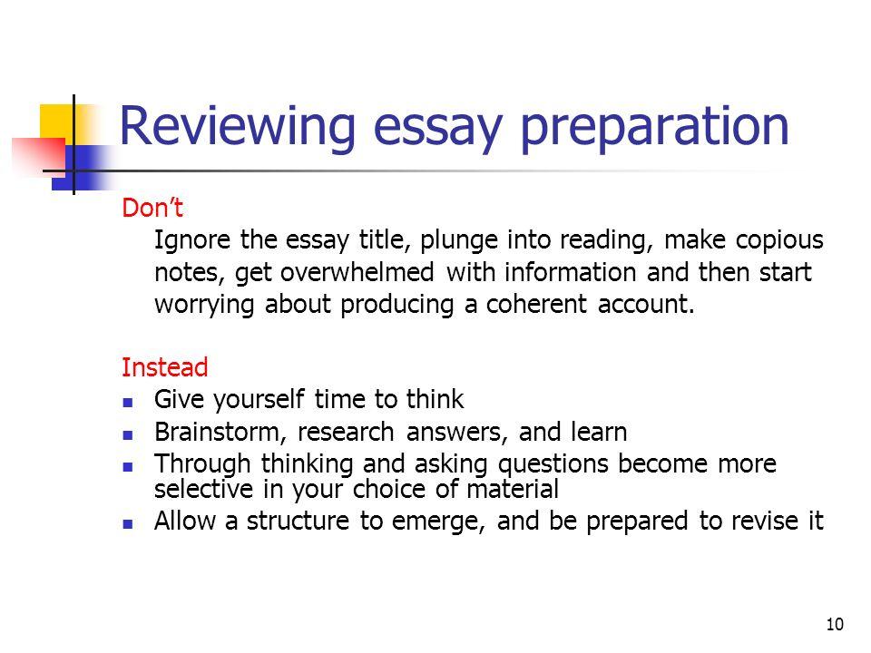 essay preparation