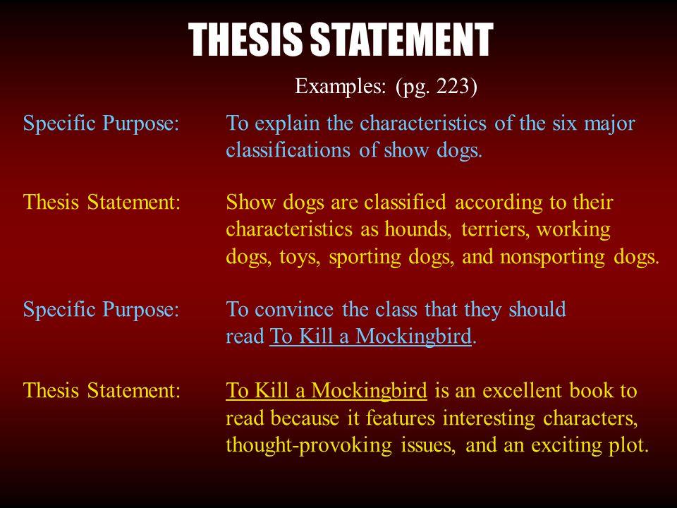 define working thesis statement