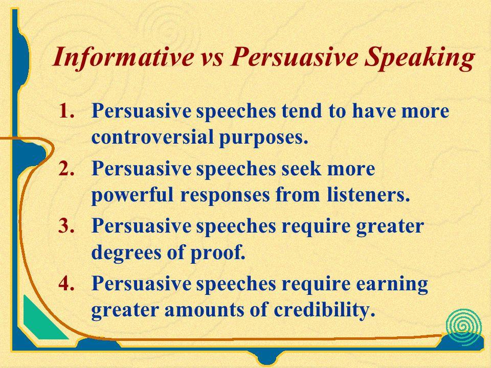 Controversial persuasive speeches