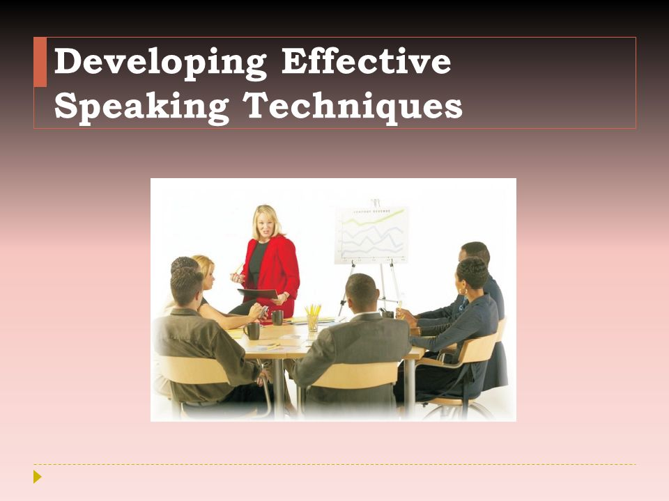 Developing Effective Speaking Techniques
