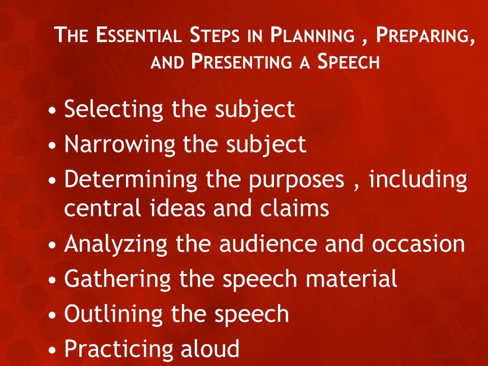 Prepare a speech