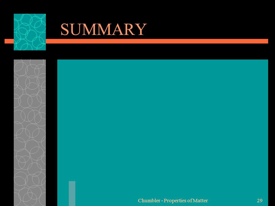 SUMMARY Chumbler - Properties of Matter29