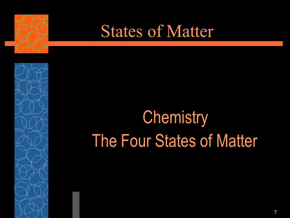 7 States of Matter Chemistry The Four States of Matter