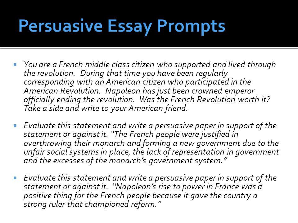 american revolution essay topics