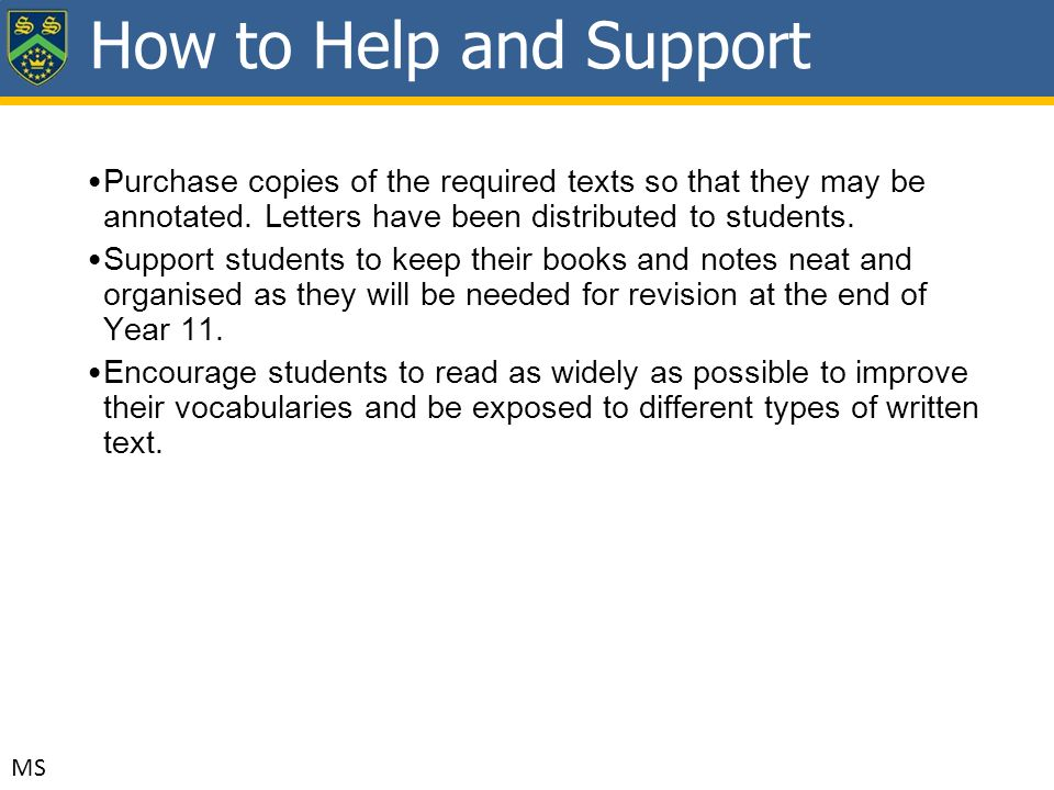 Purchase copies of the required texts so that they may be annotated.