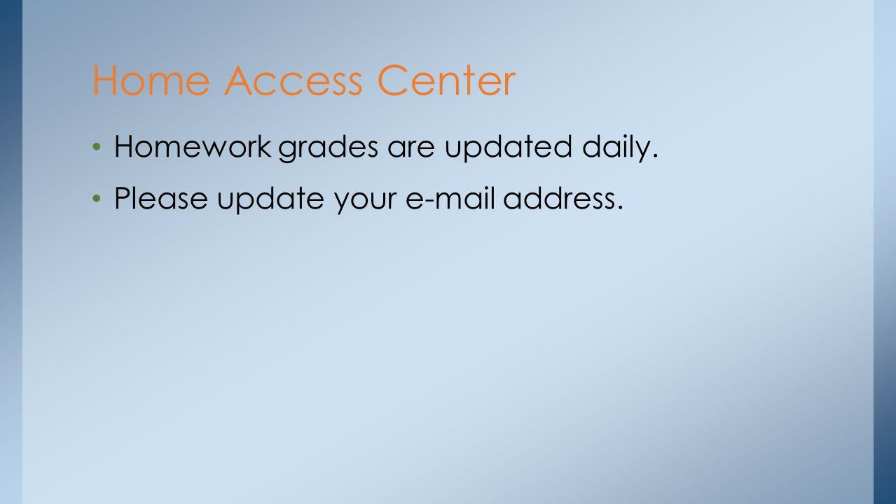Homework access center