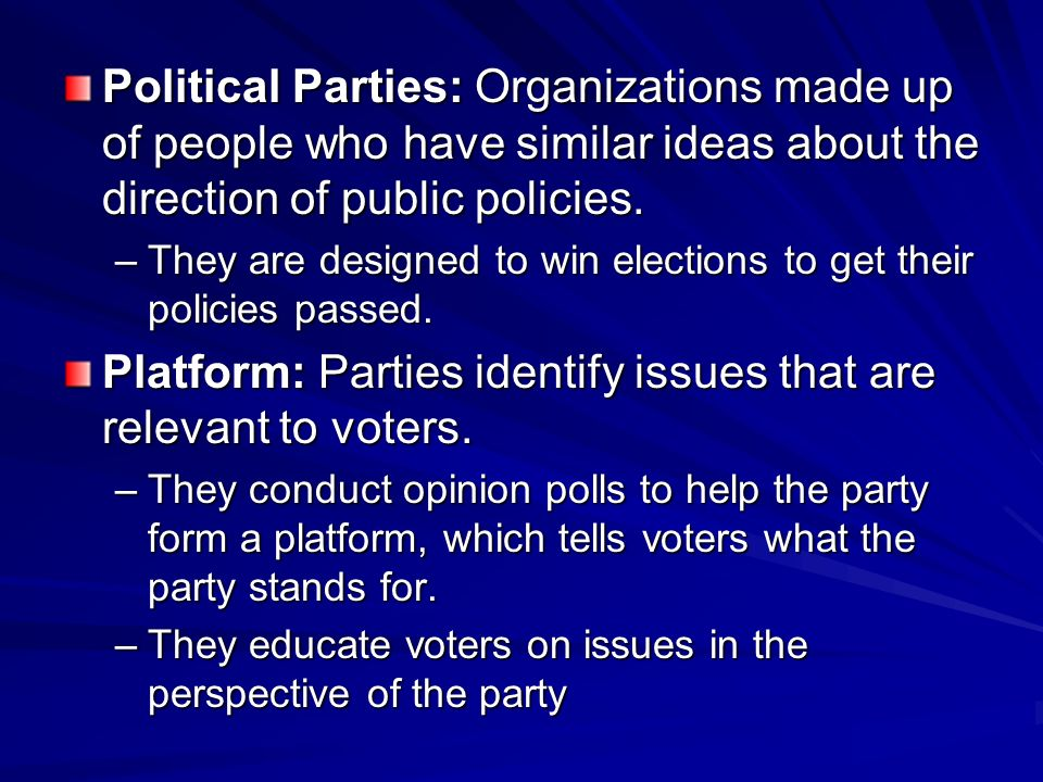 chiles political parties and organizations essay Learn about the international organizations with learn all about political parties learn how to write a strong introduction for an argumentative essay as.