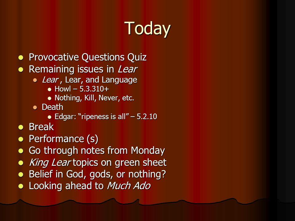 king lear act 3 quiz essay