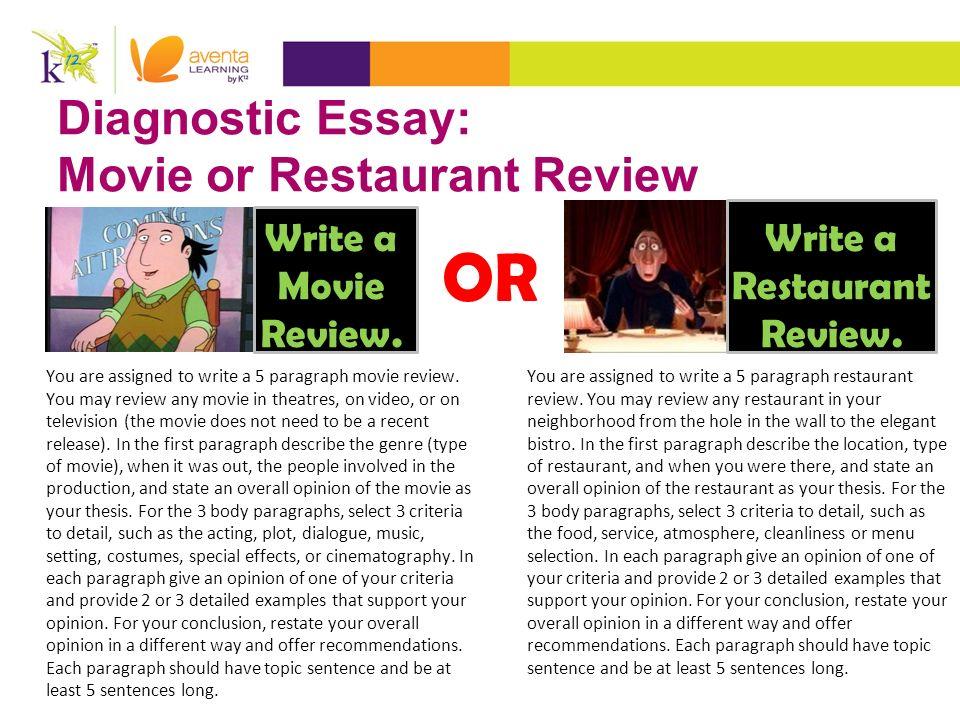 descriptive essay about restaurants