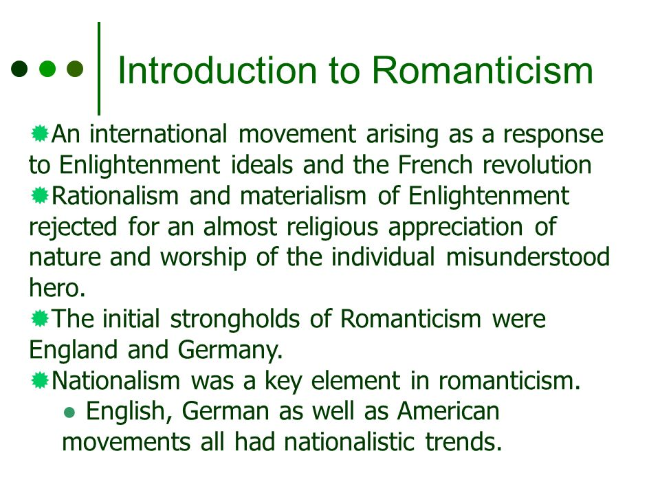 Have Romanticism Key Was Element What The Of pattern