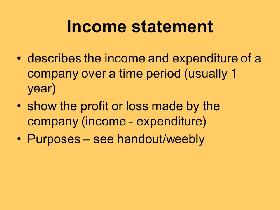 a study of the profit and loss account