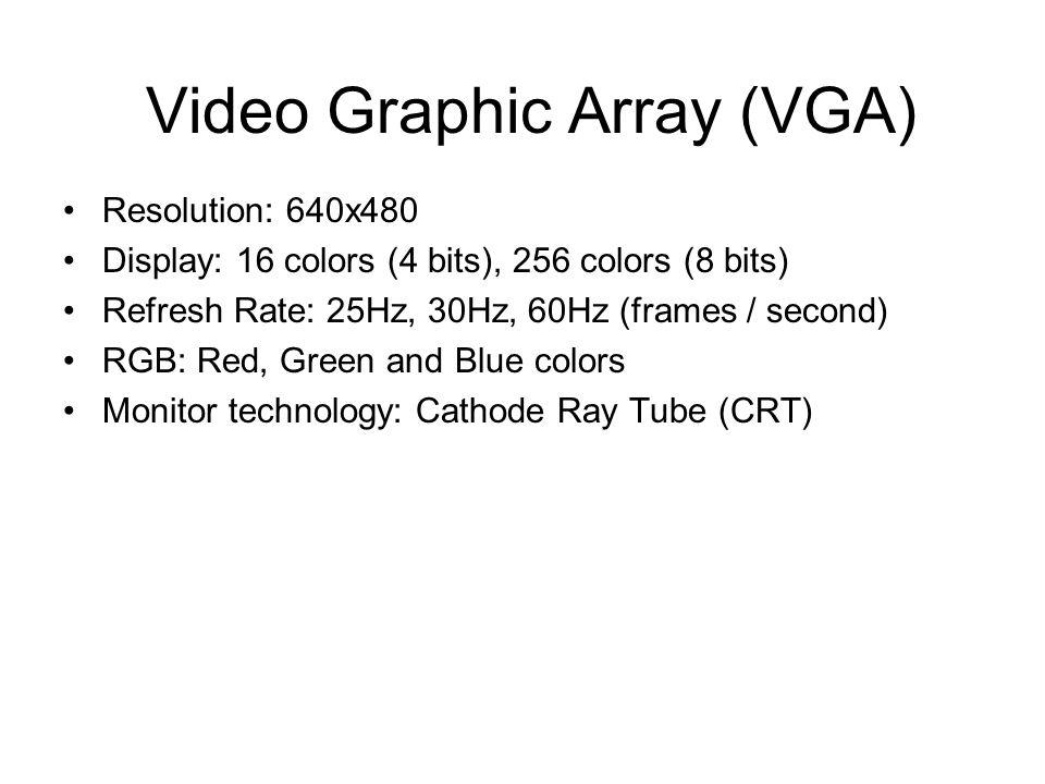 ECE 448: Lab 6 VGA Display (mini chess game). Video Graphic Array ...
