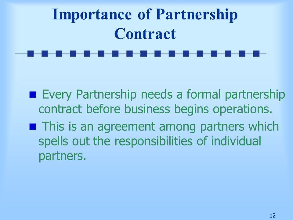 1 Overview of Partnerships 2 Learning Objectives What is – Business Partner Contract