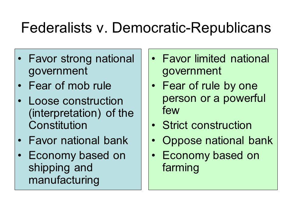 federalist vs democrats essay