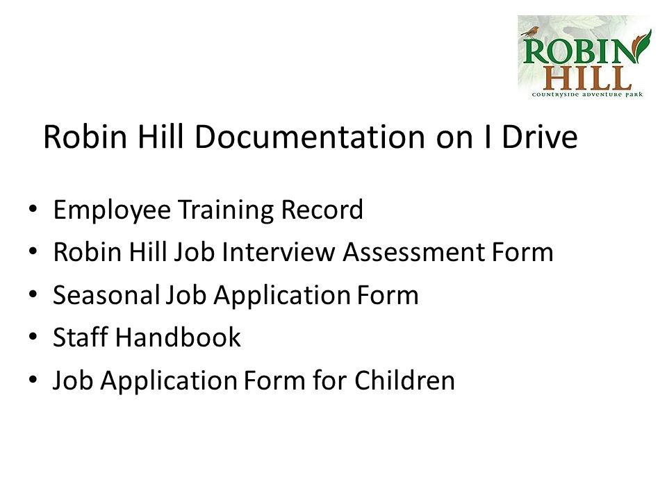 Applied Business  Unit  Robin Hill Case Study Section