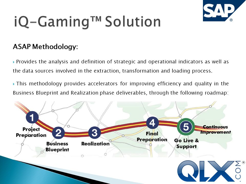 Qualex iq gaming solution use or disclosure of data contained in asap methodology provides the analysis and definition of strategic and operational indicators as well malvernweather Choice Image