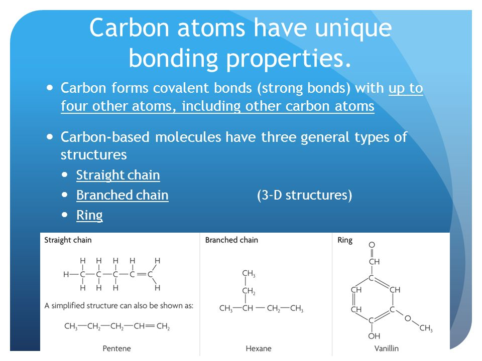 2.3 Carbon-based Molecules Key Concept: Carbon-based molecules are ...