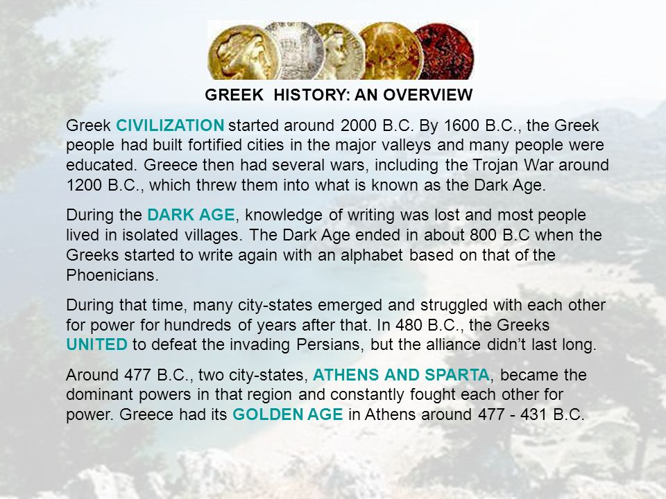 Ancient Greece The Crucible of Civilization cru·ci·ble: a place or ...