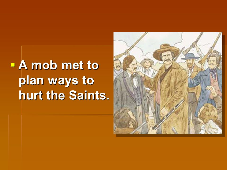  But the Saints did not have peace for very long.