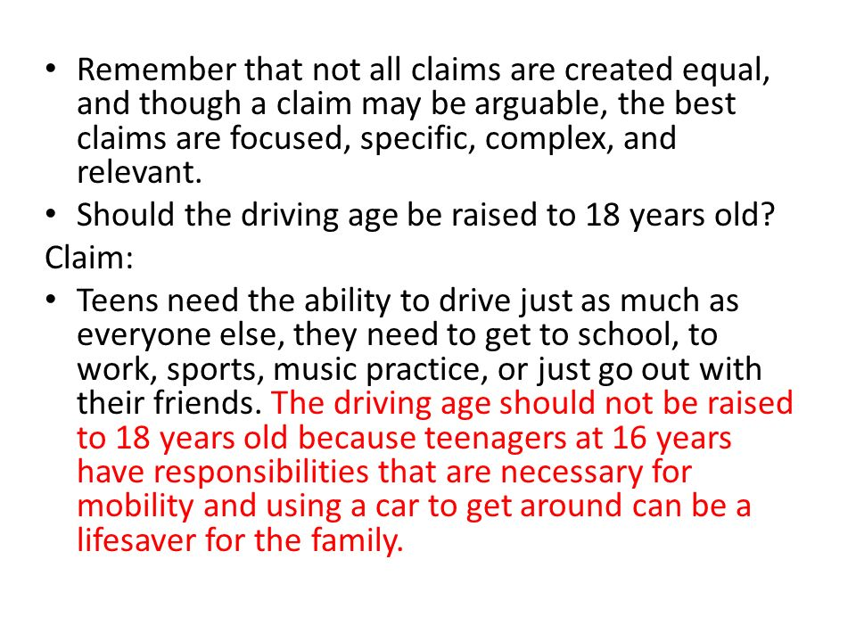 driving age should not be raised to 18 essay