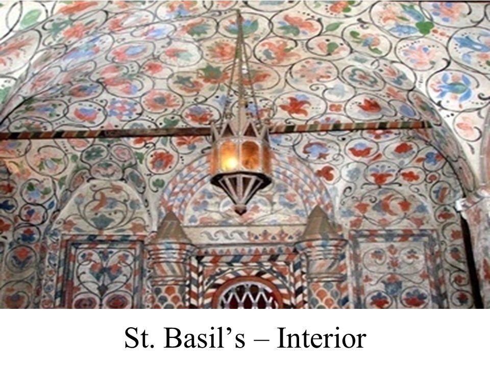 St. Basil's – Interior