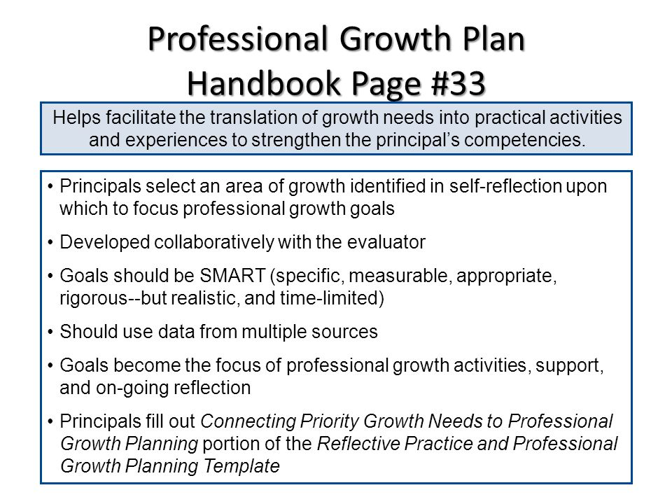 Principal professional growth and effectiveness systemppges kvec reflection on the standards handbook p 32 standard self assessment strengths and areas for growth pronofoot35fo Choice Image
