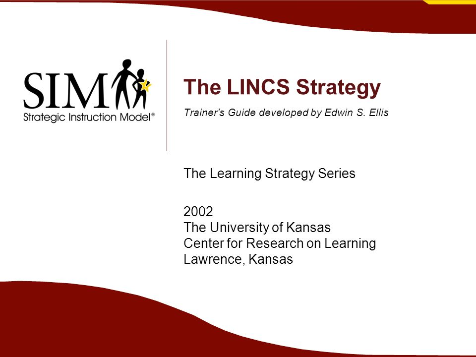 The LINCS Strategy Trainer's Guide developed by Edwin S.