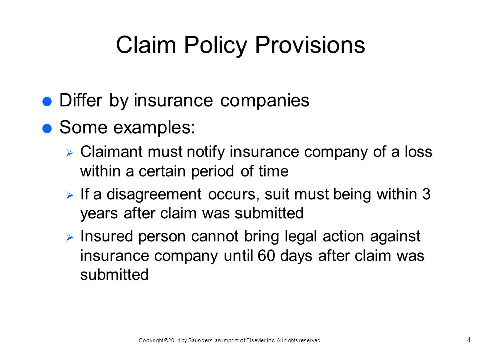 claim of policy examples