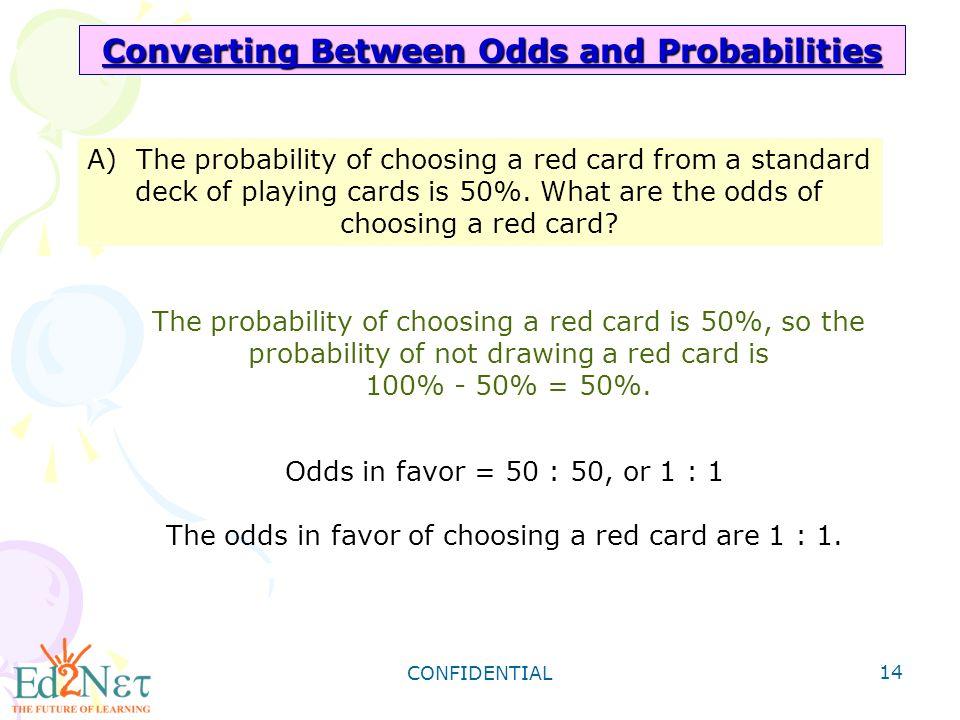 CONFIDENTIAL 1 Algebra1 Theoretical Probability CONFIDENTIAL 2 – Probability and Odds Worksheet
