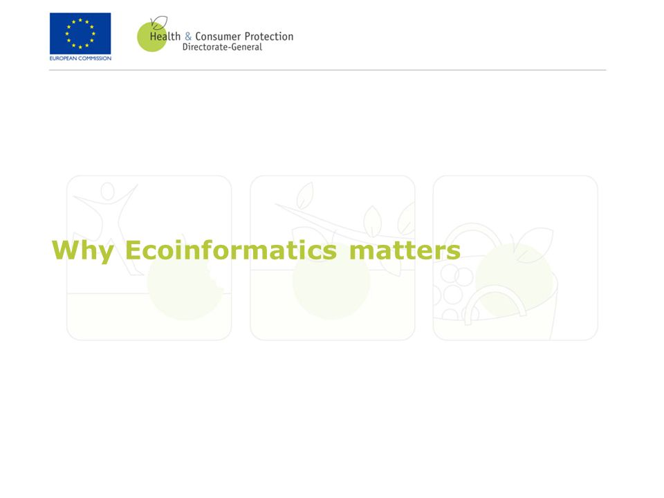 Why Ecoinformatics matters