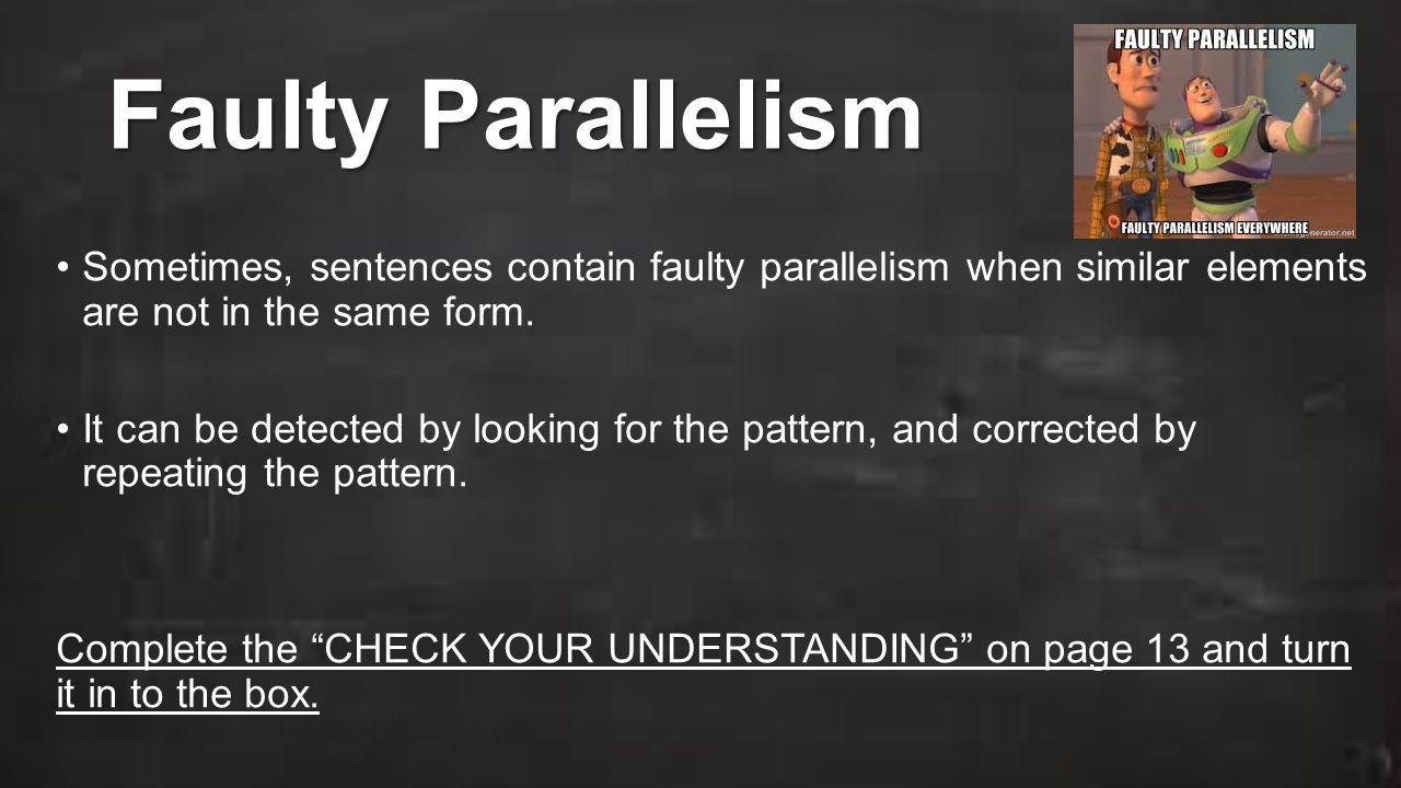 Workbooks Parallelism In Writing Worksheets Free Printable