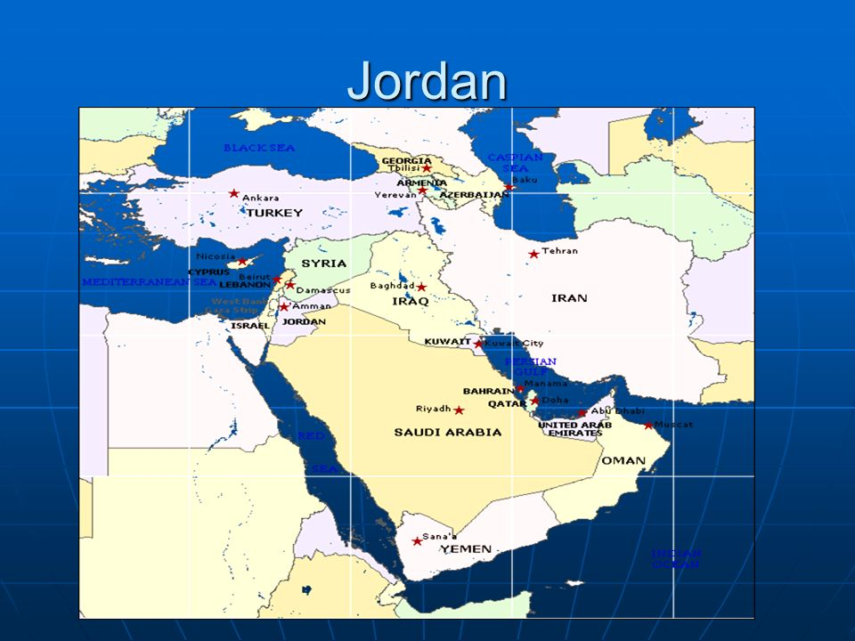 Jordan Location Jordan Is Located In The Heart Of The Middle East - Where is jordan located
