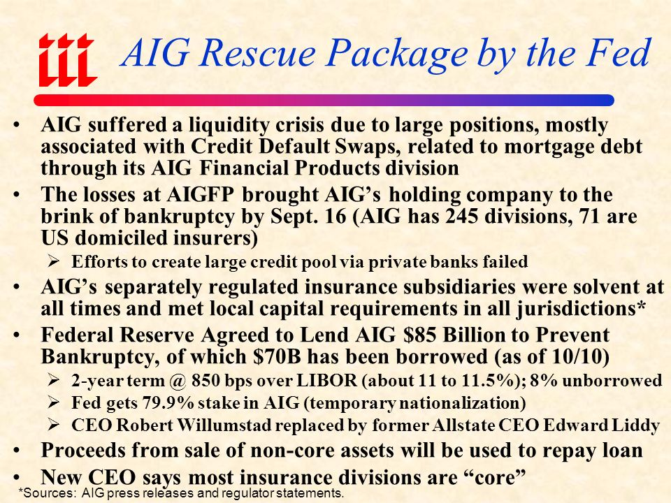 Government Rescue Package of AIG Motivation & Structural Details